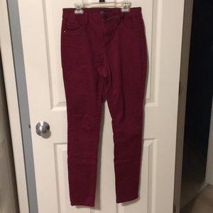 NWOT Maroon Skinny Jeans